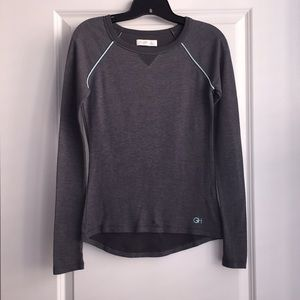 Gilly Hicks Athletic-style Fitted Long-Sleeve Top